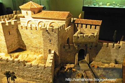 макет древней крепости