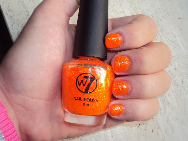 30 Days Nail Challenge. Day 2. Orange nails.