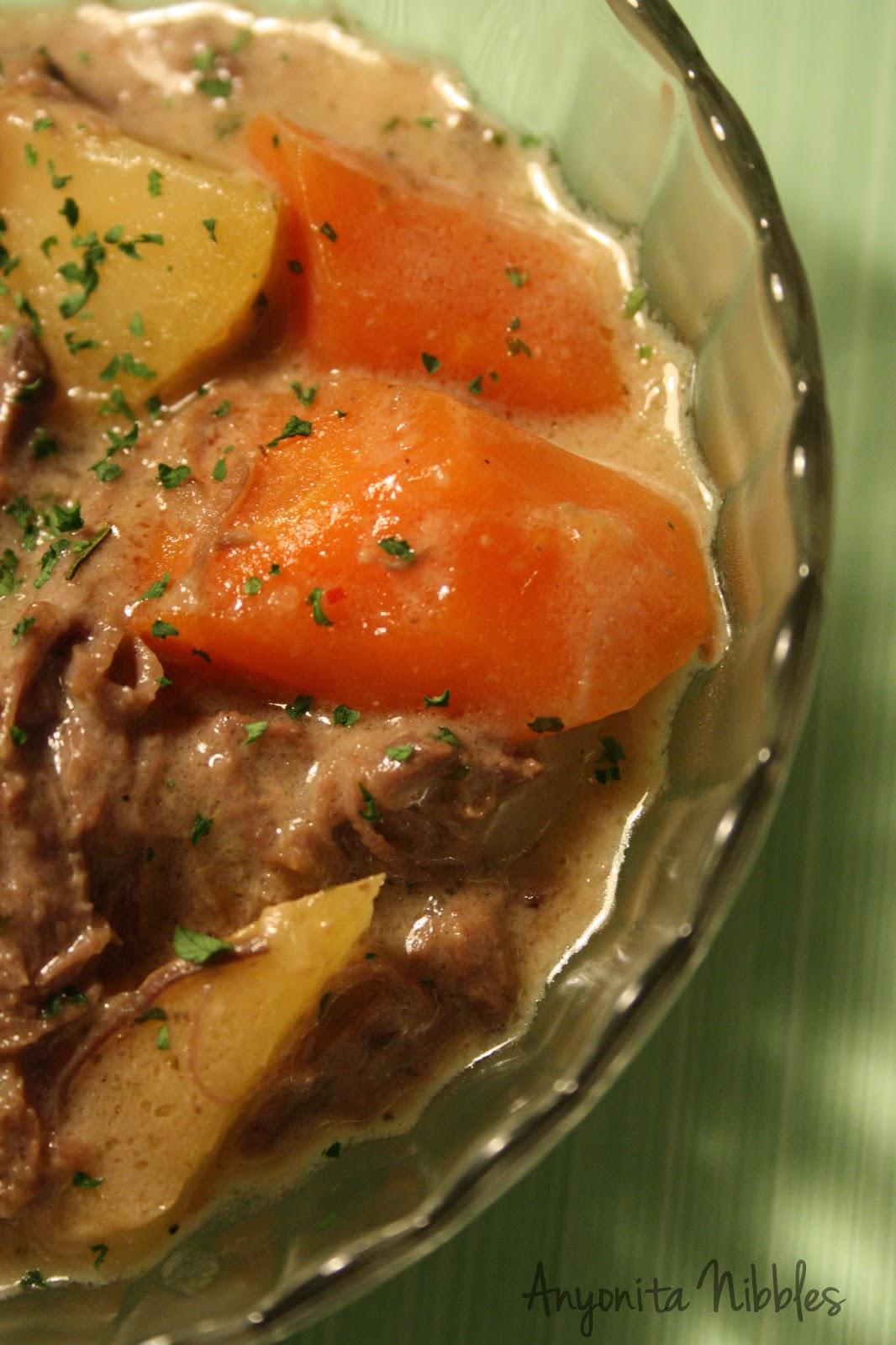 of mushroom, slow cooker, crock pot, pot roast, beef rump, rump roast ...