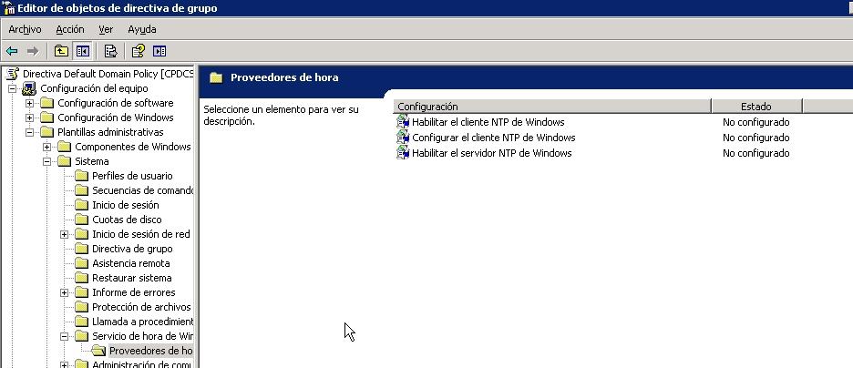 configurar ntp en controlador de dominio