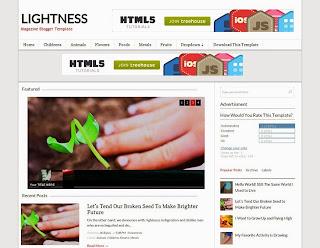 Lightness Free Magazine Template
