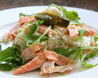 HOT SMOKED TROUT SALAD