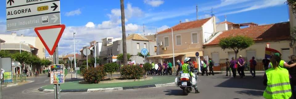 La etapa concluyó en la plaza del Ayto. de Algorfa