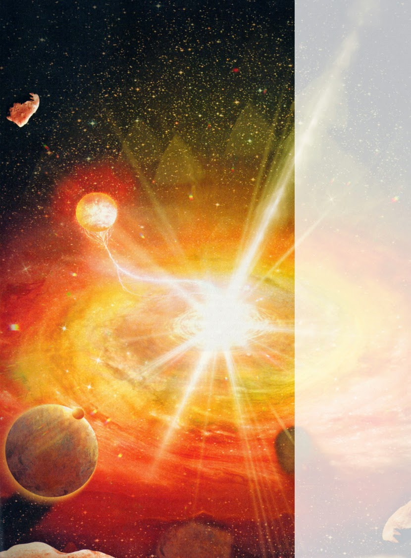 Resultado de imagen de Estallido desconocido desde fuera de nuestra Galaxia