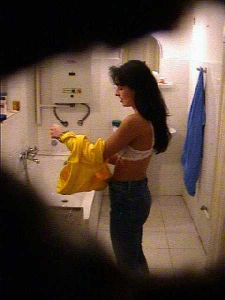 Voyeur Images of Beena in Bathroom