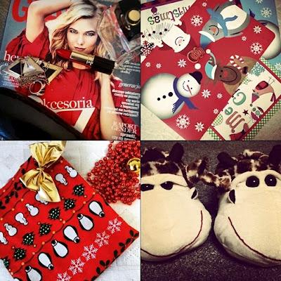 podsumowanie, nic na powaznie, blog, instagram, marzana.c, zimowa bluzka, kapcie, szminka, glamour, podkładki na stól, foremka