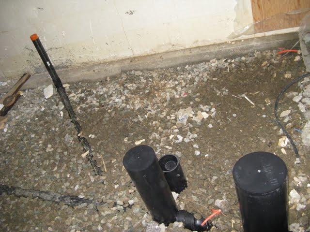 Notre maison plomberie du sous sol for Plomberie sous sol salle de bain