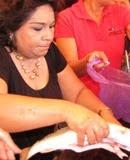 Sonia Cuevas Presidenta CNC Estado Campeche vende pescado en cuaresma. 26marzo2011.