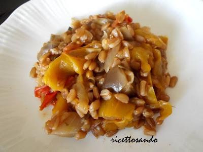 Farro risottato con verdure