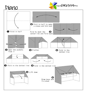 Piano Origami