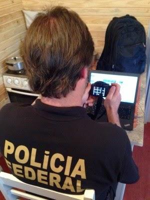 Operação da PF apura pedofilia em 18 estados e DF (Foto: Polícia Federal/Divulgação)