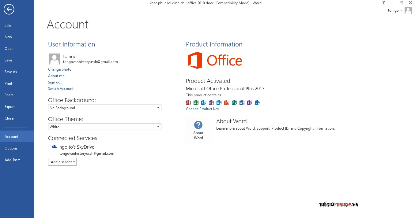 how to change office 365 license key