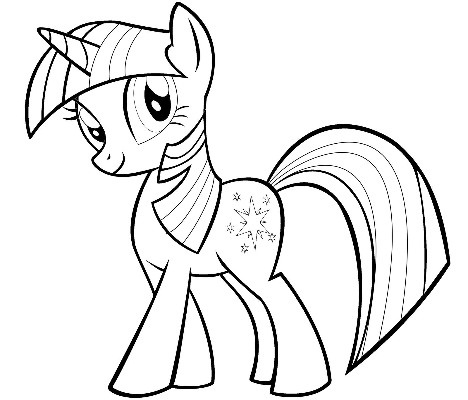 Coloring Pages Of Princess Twilight Sparkle : My little pony twilight sparkle coloring pages