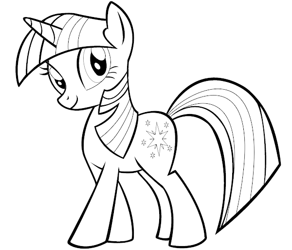 My Little Pony Twilight Sparkle Coloring Pages