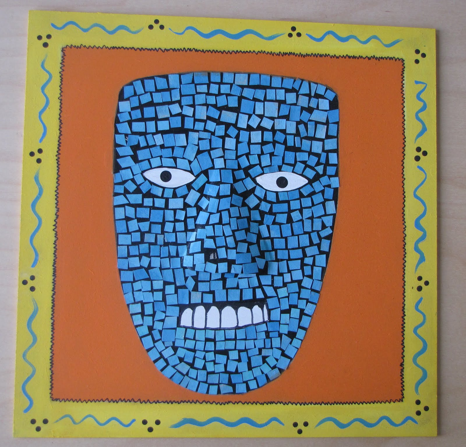 Do Art Mosaic Aztec Mask Project