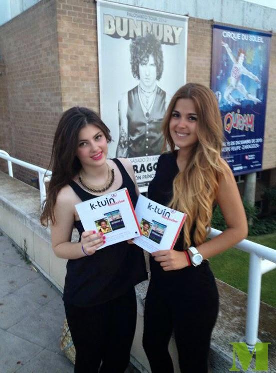 Azafatas-promotoras de Ktuin en el concierto de Bunbury en Zaragoza. Makoondo Eventos