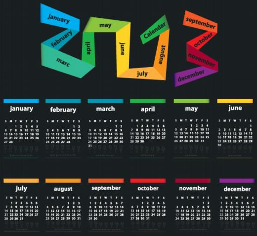 Creativos calendarios 2013 para imprimir