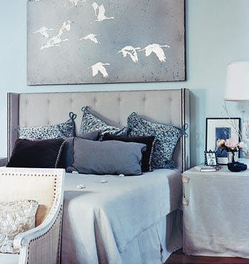 Light Blue Wall Bedroom | Best Modern Furniture Design Directory Blog