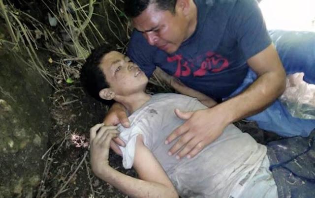 Pai encontra filho de 12 anos momentos antes de morrer após menino ser jogado de ponte porque se recusou cometer assassinat