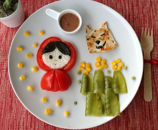 Platos creativos para niños