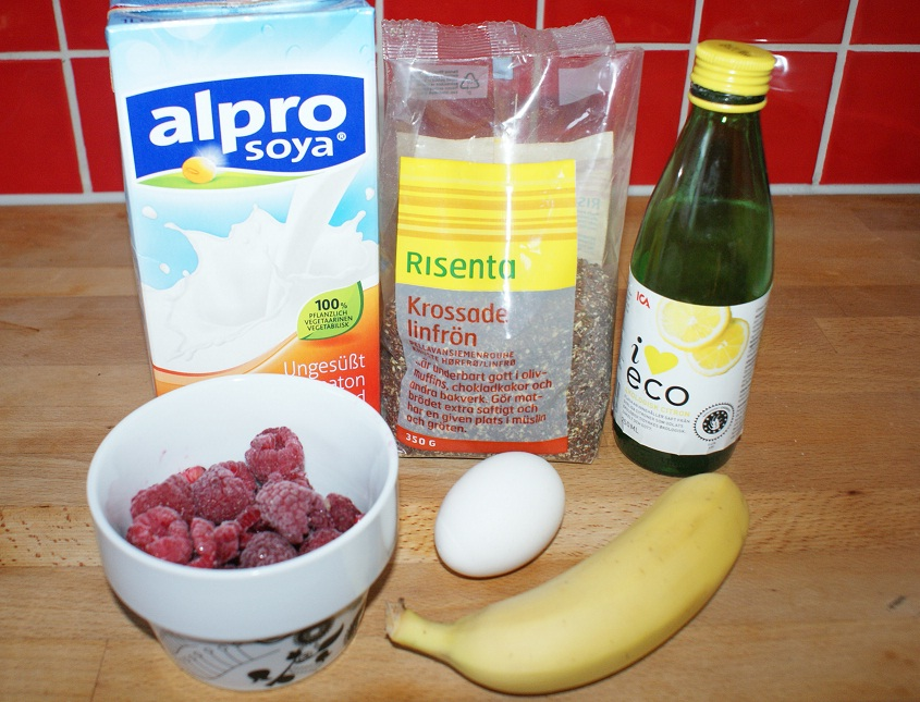 smoothie med sojamjölk