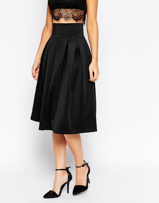 The Little Black Skirt Asos Midi Skirt