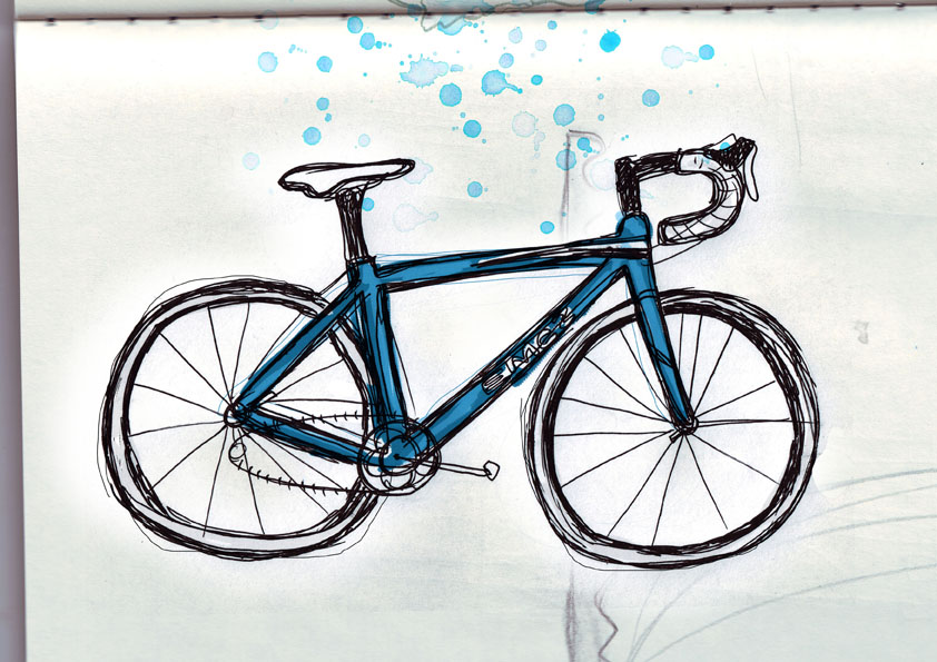 Simple bicycle illustration - photo#17