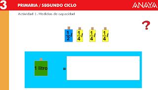 MEDIDAS DE CAPACIDAD :: JUGANDO Y APRENDIENDO