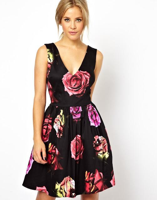 flower prom dress