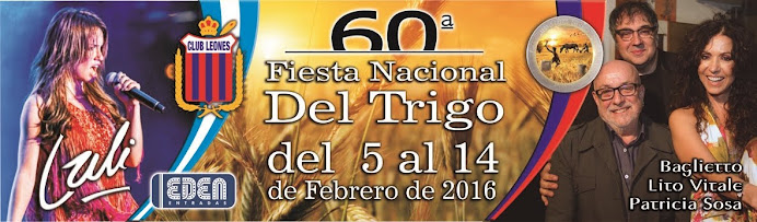 ESPACIO PUBLICITARIO: FIESTA NACIONAL DEL TRIGO 2016