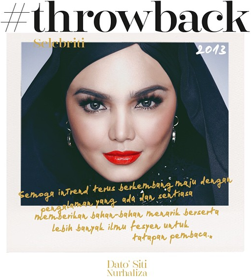 Intrend Throwback Siti Nurhaliza