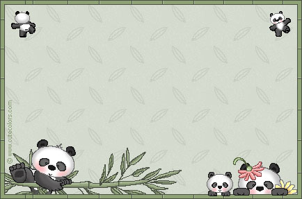 Panda dibujo tierno para colorear - Imagui