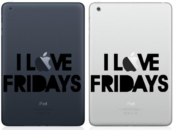 I Love Friday iPad Mini Decals