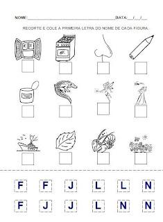 Atividade para a hipótese de escrita pré-silábica. Alfabetização.