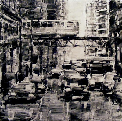 Original painting, West Jackson Boulevard, Chicago