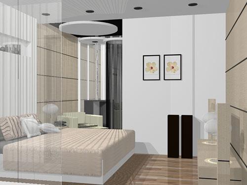 Desain Interior Kamar Tidur Elegan