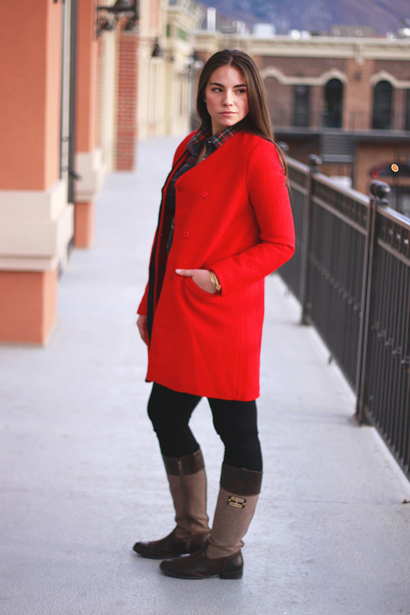red wool coat from little mistress