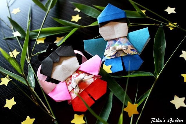 ★tanabata★ tutorial origami - orihime & hikoboshi -