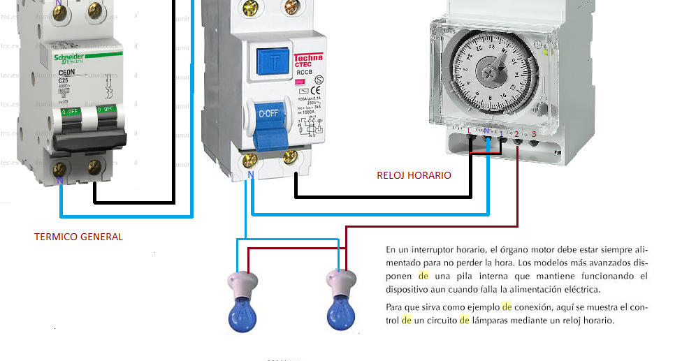 Esquema De Interruptor Horario Esquemas El Ctricos
