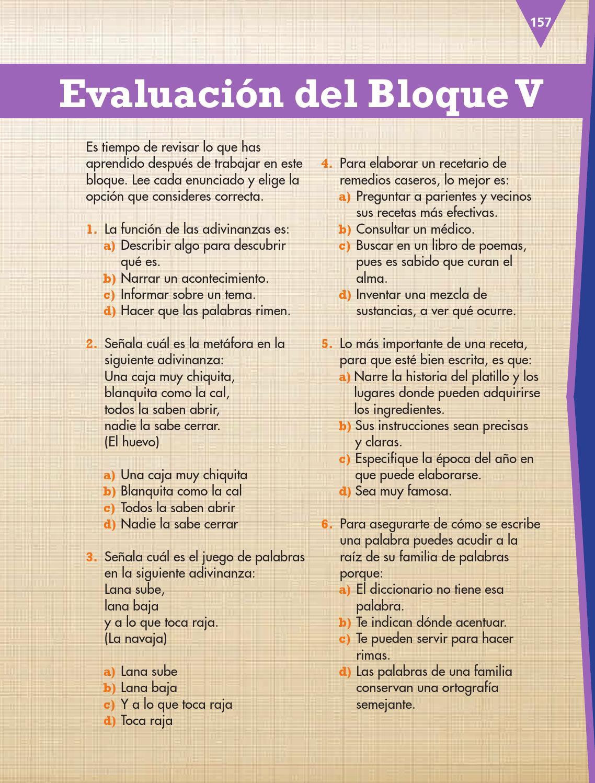 Evaluación español 3ro bloque 5/2014-2015