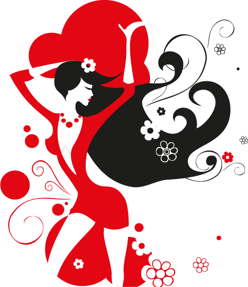 mujer en discoteca vectorial