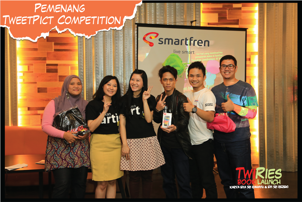 Para pemenang twitpict competition TwiRies Book Launch