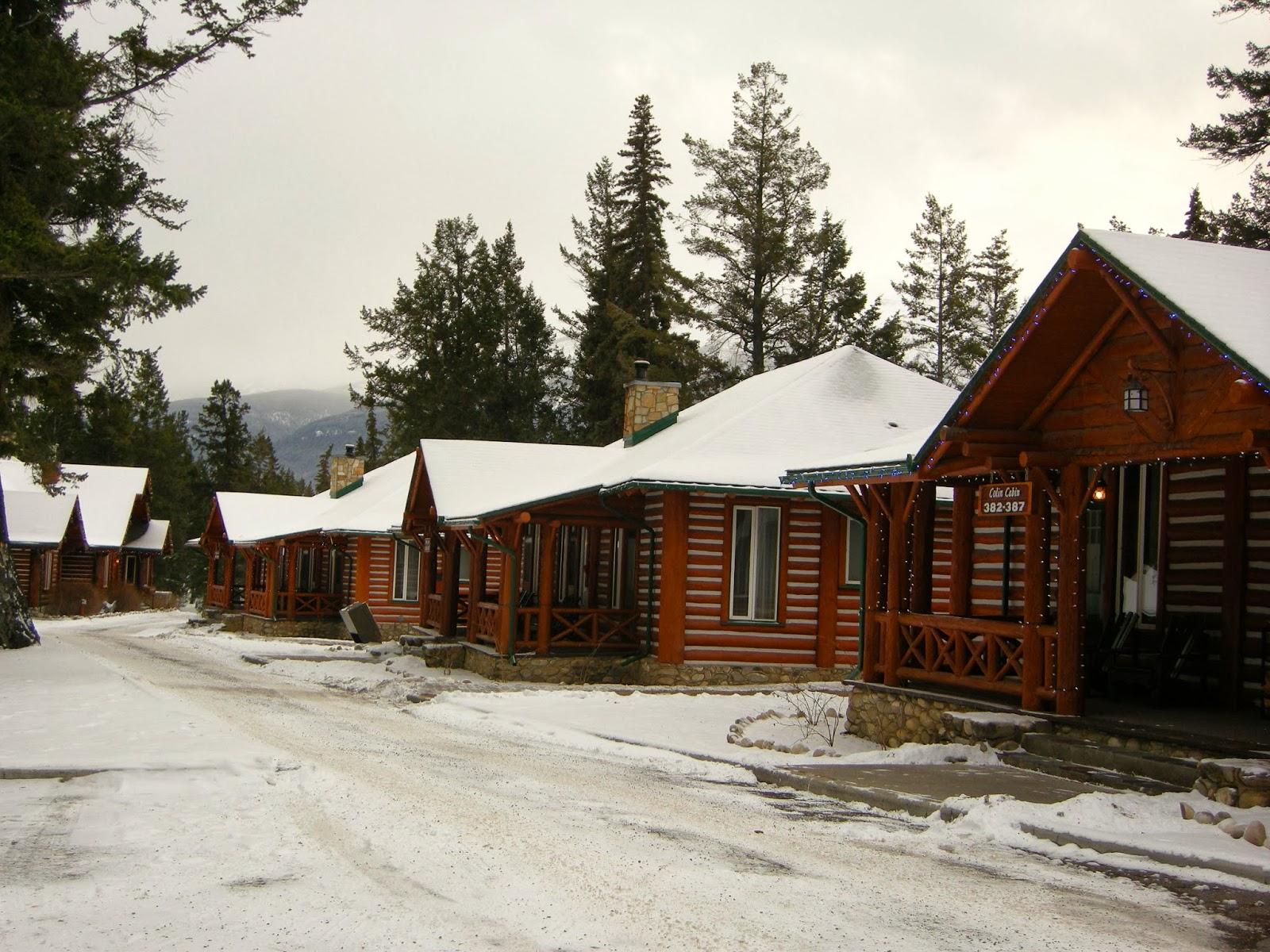 One two ski for Jasper luxury cabins