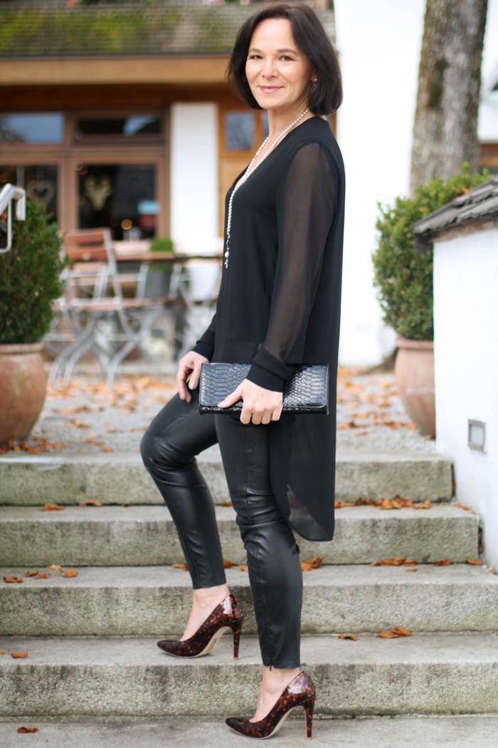 20 top reasons for wearing black lady of style - Leggings kombinieren ...
