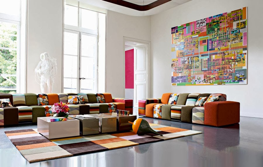 Colorful Living Spaces Interiors Blog Delectable Colorful Living Room Furniture Sets Creative