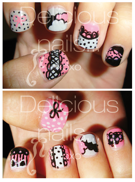 delicious nails. girly design