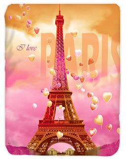 Selimut Kendra I love Paris
