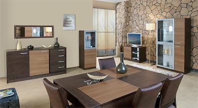 kahverengi+ve+krem+renkli+tatli+yemek+odasi+takimi Modern,Şık,lux Delux,Yeni Trend Yemek Odası Takımları