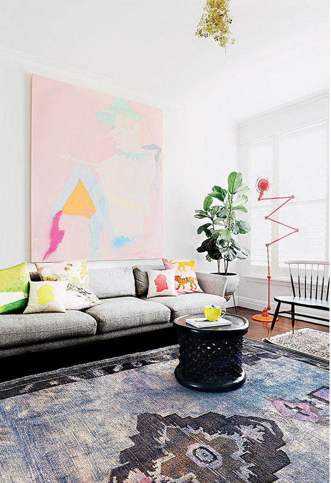 A beautiful and colourful Melbourne apartment