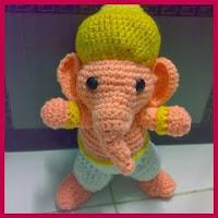 Elefante Ganesha amigurumi